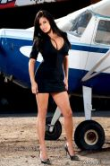 Pictures of teen amateur Wendy 4 dressed up as a fantasy flight attendant