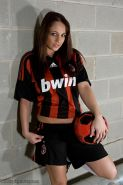 Pictures of Nikki ready for some steamy soccer