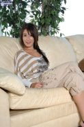 Missi Daniels fondles her bare perky breasts