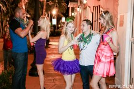 Cadence Lux and her hot friends celebrate Mardis Gras in style
