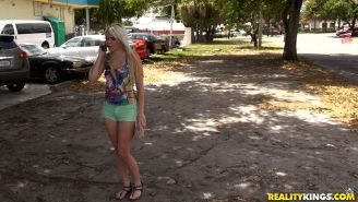 Blonde teen Olivia Kasady gets picked up on the street