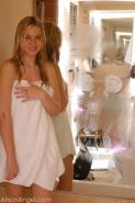 Pictures of Alison Angel showing you her hot nude teen body