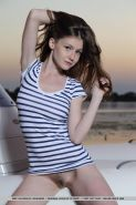 Beautiful model Emily Bloom wants to sail away into the sunet with you