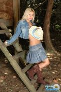 Pictures of Sandy Summers being a hot country girl