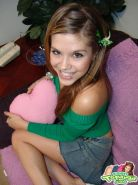 The cute Teen Topanga gives you a striptease in her sexy skirt and blue panties