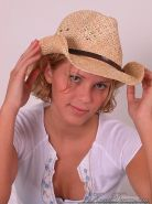 Pictures of teen cutie Karen Dreams wearing a hot cowgirl hat