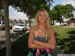 Beautiful blonde girl Jessie Andrews gets plugged and pumped hard