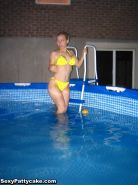 Blonde hottie Sexy Pattycake wants you to join her for a swim