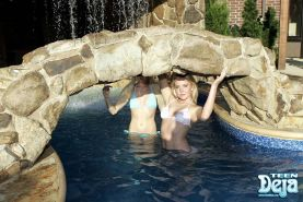 Pictures of Teen Deja making out with Teen Kelly in the water