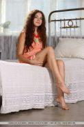 Brunette girl Norma A asks you to play with her luscious body in bed