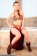 Hot model Sexy Pattycake dresses up as Slave Leia