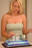 Pictures of Alison Angel and her pussy celebrating their 20th birthday