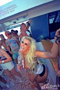 Hot college coeds go wild on a boat party