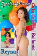 Alternative girl Reyna is irresistible and nude with balloons