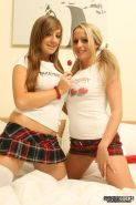 Pictures of Sophie Cocks and her schoolgirl lesbian lover
