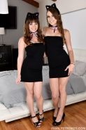 Hot step-sisters Alison Rey and Zoey Laine give a hot threesome