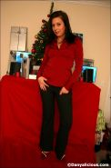 Pictures of teen cutie Danyalicious unwrapping your present on xmas