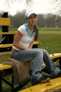 Pictures of teen babe Mandy's Diary stripping on the baseball field