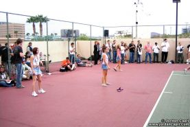 Jordan and her friends get naughty on the tennis court