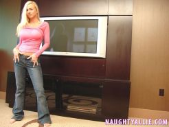 Blonde babe Naughty Allie gives some hot pov sex
