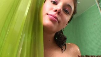 Pictures of teen model Little Caprice having sex in the shower