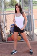 18 year old Racquel masturbates at baseball field