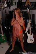 Pictures of teen star Your Caitlynn getting kinky in a guitar shop