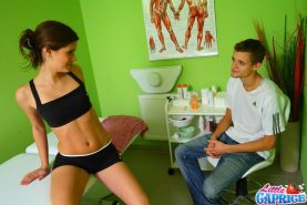 Pictures of Little Caprice fucking her masseuse