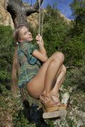 Teen hottie Milena D plays with herself while on vacation in a jungle