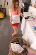 Hot teen Sydney Cole fucks her step-brother in the laundry room