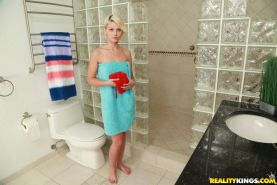 Hot teens Dani Desire and Shae Summers get it on after a hot shower