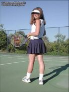 Tawnee nude on a tennis court