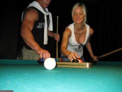 Pictures of teen Carmen Cocks fucking after a game of pool