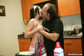Brunette teen Ivy Winters gets drilled by an old geezer