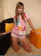 Pictures of teen babe Josie Model looking cute in socks and panties