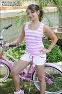 Pictures of Jordan Capri getting naked on her bicycle