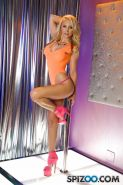 Blonde babe Alix Lynx gives you a private show on the stripper pole