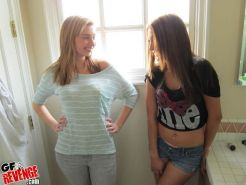 Two hot college friends have a threesome and film it