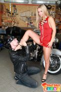 Pictures of Sabrina Blond fucking a lucky biker