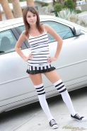 Beautiful girl Ashley Doll is ready for the soccer game