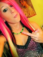 Compilation of an amateur punk chick posing for the cam