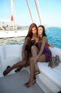 Ashley and Angelica invite you to party with them on a yacht