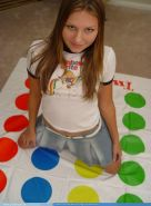Pictures of teen girl Josie Model playing a hot game of twister