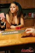 Pics of Angel Button playing strip poker