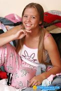 Super cutie Dawson strips out of her pajamas