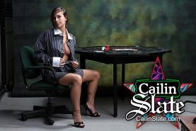 Pictures of teen Cailin Slate dressed as your fantasy secretary
