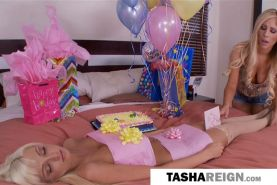 Rikki Six gives her hot pussy to Tasha Reign for her birthday