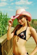 Pictures of teen porn girl Meggan Powers wearing only her cowgirl hat