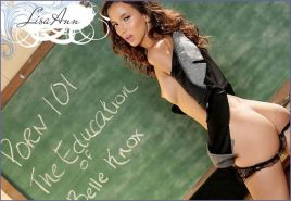 Brunette coed Belle Knox is a sexy student of Mrs. Lisa Ann's sex class