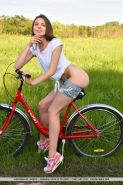 """Brunette teen Cheyanna gets naked with her bicycle in """"Hyllie"""""""